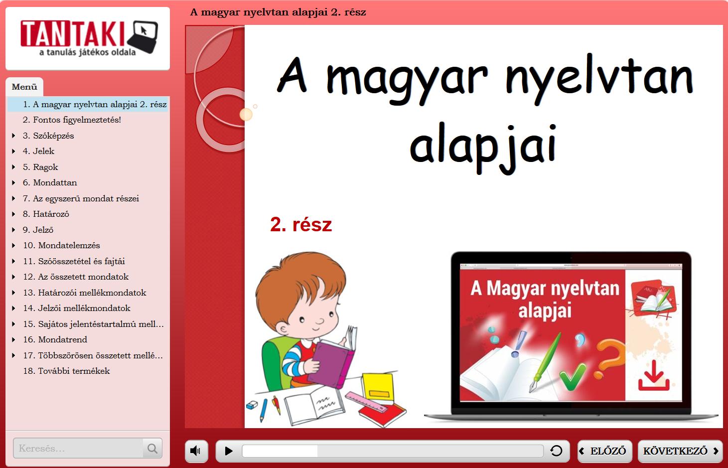 A magyar nyelvtan alapjai  2. rész