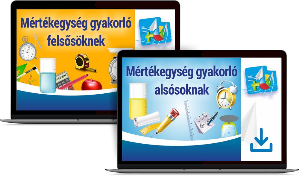 Mértékegység gyakorló oktatócsomag - alsósoknak, felsősöknek