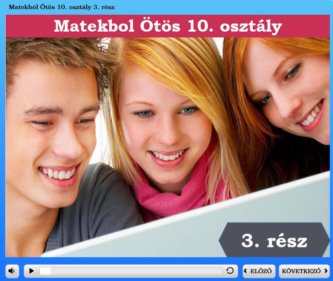 Matekból Ötös 10. osztály 3. rész