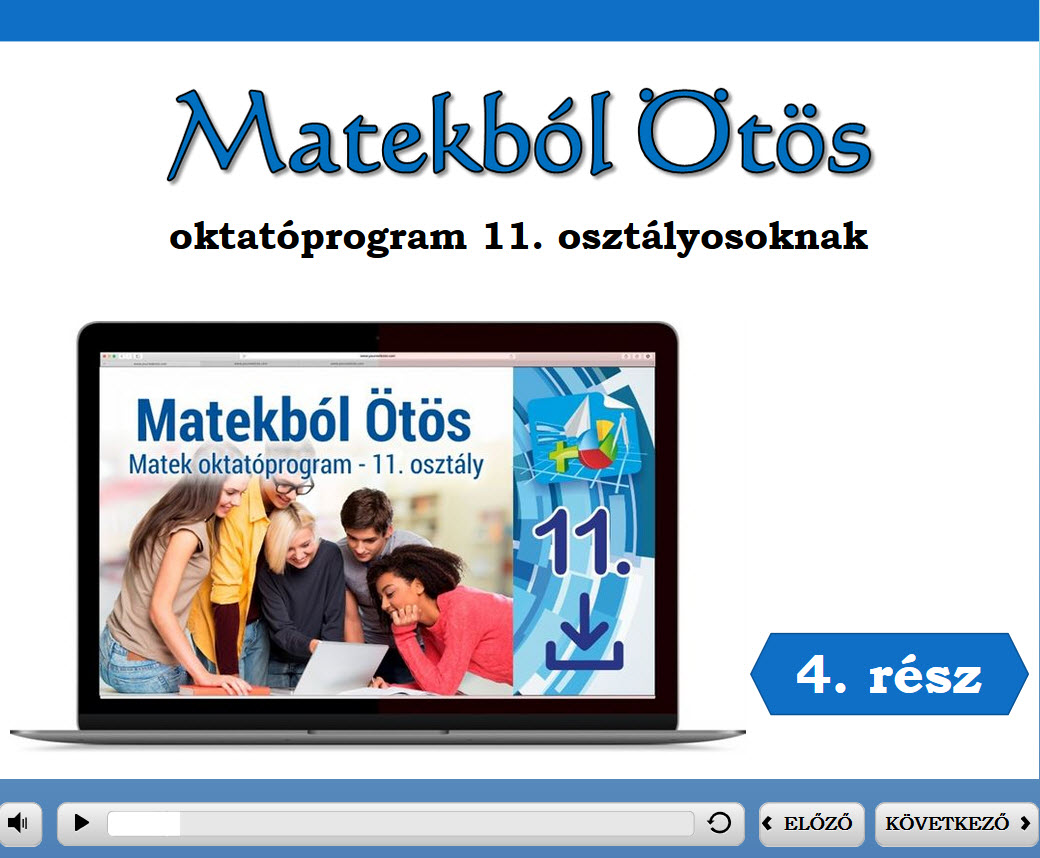 Matekból Ötös 11. osztály 4. rész