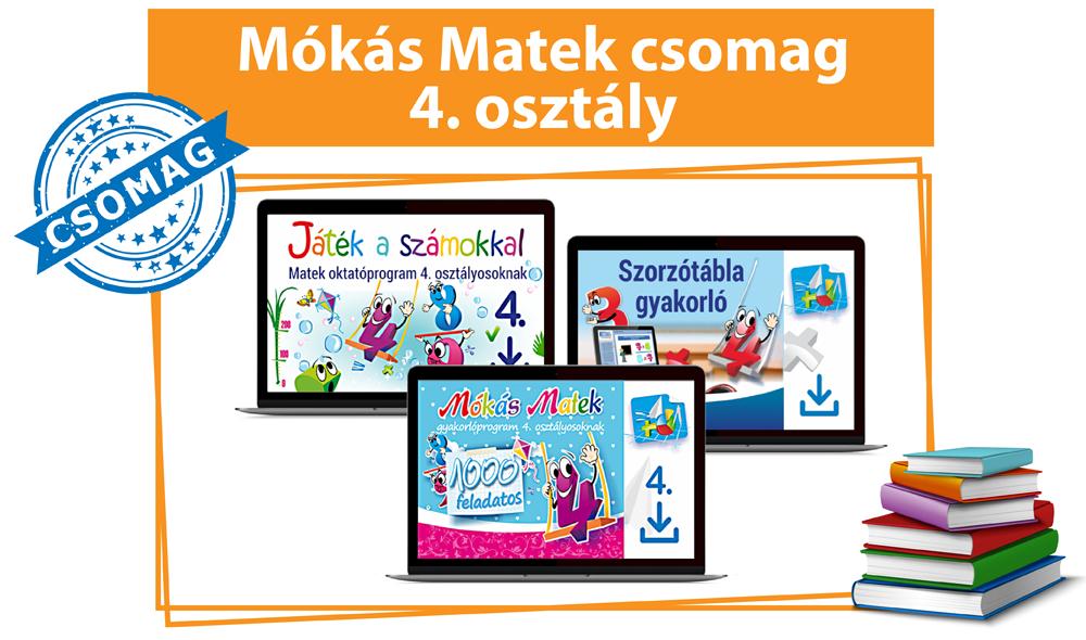 Mókás Matek Csomag 4. osztályosoknak